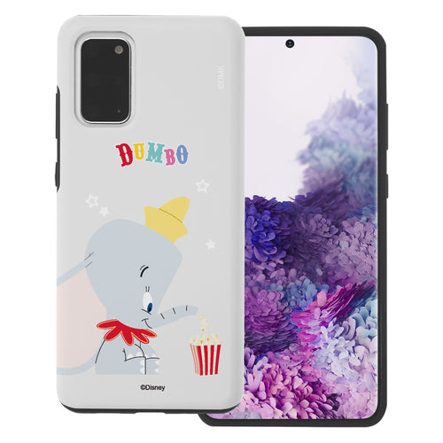 Galaxy S20 Case (6.2inch) Disney Dumbo Layered Hybrid [TPU + PC] Bumper Cover - Dumbo Popcorn