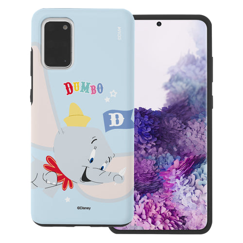 Galaxy S20 Case (6.2inch) Disney Dumbo Layered Hybrid [TPU + PC] Bumper Cover - Dumbo Fly