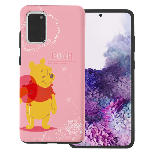 Galaxy Note20 Case (6.7inch) Disney Pooh Layered Hybrid [TPU + PC] Bumper Cover - Balloon Pooh Ground