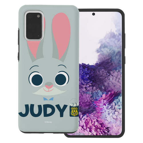 Galaxy S20 Case (6.2inch) Disney Zootopia Layered Hybrid [TPU + PC] Bumper Cover - Face Judy