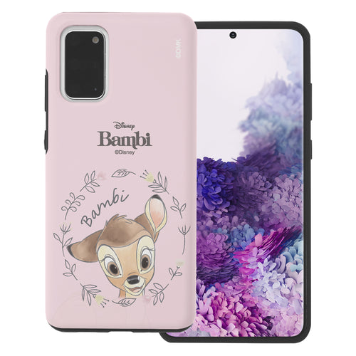 Galaxy S20 Case (6.2inch) Disney Bambi Layered Hybrid [TPU + PC] Bumper Cover - Face Bambi