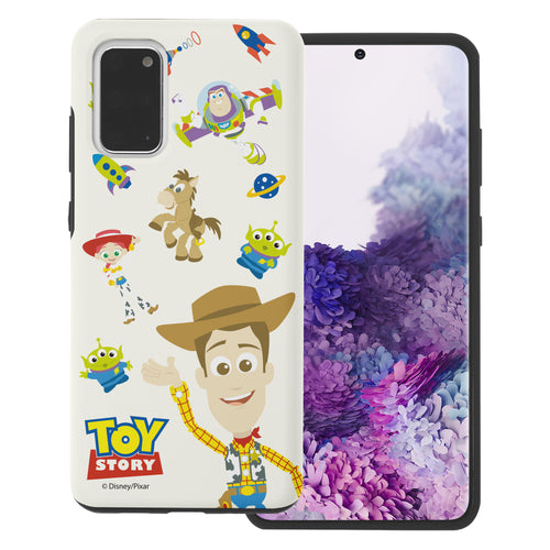 Galaxy S20 Plus Case (6.7inch) Toy Story Layered Hybrid [TPU + PC] Bumper Cover - Pattern Woody