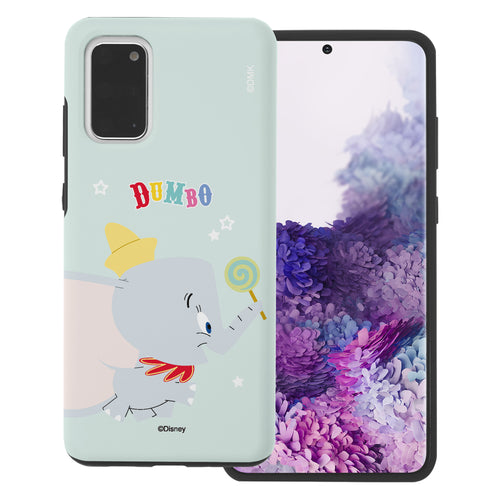 Galaxy S20 Case (6.2inch) Disney Dumbo Layered Hybrid [TPU + PC] Bumper Cover - Dumbo Candy