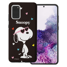 Load image into Gallery viewer, Galaxy S20 Ultra Case (6.9inch) PEANUTS Layered Hybrid [TPU + PC] Bumper Cover - Snoopy Heart Glasses Black