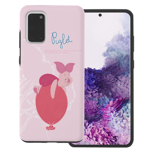 Galaxy S20 Ultra Case (6.9inch) Disney Pooh Layered Hybrid [TPU + PC] Bumper Cover - Balloon Piglet