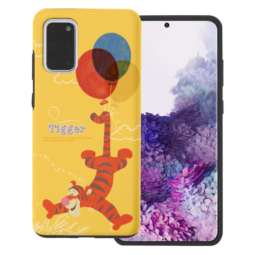 Galaxy Note20 Case (6.7inch) Disney Pooh Layered Hybrid [TPU + PC] Bumper Cover - Balloon Tigger