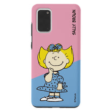 Load image into Gallery viewer, Galaxy S20 Case (6.2inch) PEANUTS Layered Hybrid [TPU + PC] Bumper Cover - Diagonal Sally