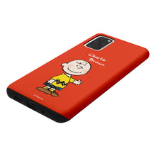Load image into Gallery viewer, Galaxy S20 Plus Case (6.7inch) PEANUTS Layered Hybrid [TPU + PC] Bumper Cover - Charlie Brown Stand Red