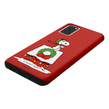 Load image into Gallery viewer, Galaxy S20 Case (6.2inch) PEANUTS Layered Hybrid [TPU + PC] Bumper Cover - Christmas Wreath Snoopy
