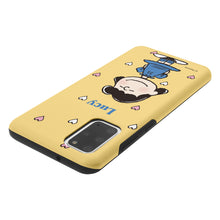 Load image into Gallery viewer, Galaxy S20 Ultra Case (6.9inch) PEANUTS Layered Hybrid [TPU + PC] Bumper Cover - Lucy Heart Stand