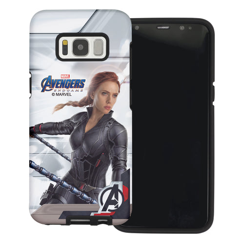 Galaxy S6 Case (5.1inch) Marvel Avengers Layered Hybrid [TPU + PC] Bumper Cover - Game Widow