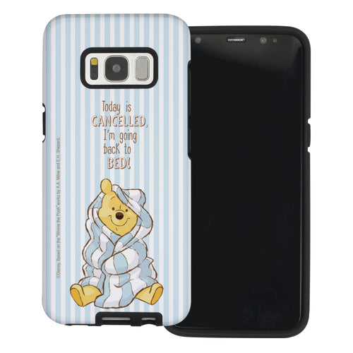 Galaxy Note5 Case Disney Pooh Layered Hybrid [TPU + PC] Bumper Cover - Words Pooh Stripe