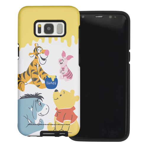 Galaxy S8 Case (5.8inch) Disney Pooh Layered Hybrid [TPU + PC] Bumper Cover - Pooh Friends