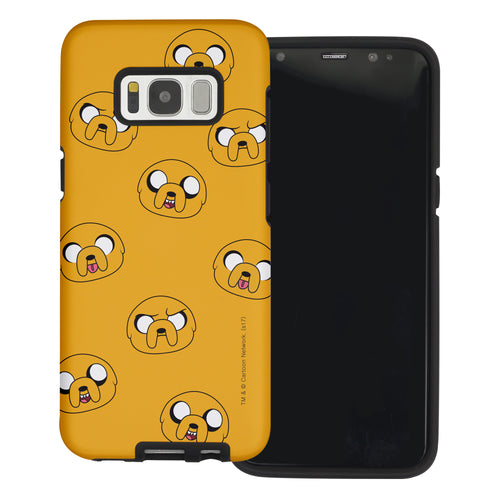 Galaxy S6 Edge Case Adventure Time Layered Hybrid [TPU + PC] Bumper Cover - Pattern Jake