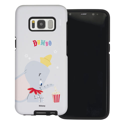 Galaxy S8 Case (5.8inch) Disney Dumbo Layered Hybrid [TPU + PC] Bumper Cover - Dumbo Popcorn