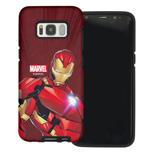 Galaxy S6 Edge Case Marvel Avengers Layered Hybrid [TPU + PC] Bumper Cover - Illustration Iron