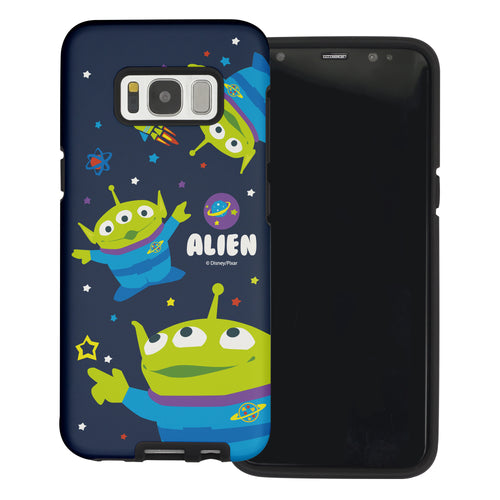 Galaxy S8 Plus Case Toy Story Layered Hybrid [TPU + PC] Bumper Cover - Pattern Alien Space