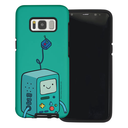Galaxy Note4 Case Adventure Time Layered Hybrid [TPU + PC] Bumper Cover - Vivid BMO