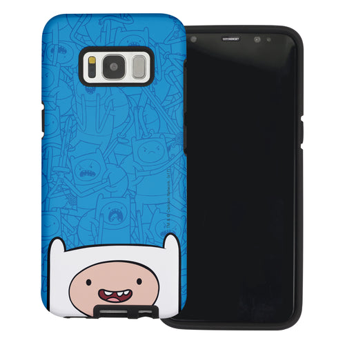 Galaxy Note4 Case Adventure Time Layered Hybrid [TPU + PC] Bumper Cover - Pattern Finn Big