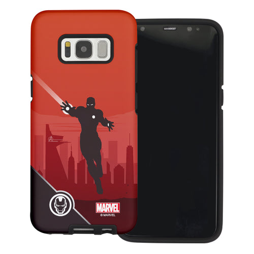 Galaxy S6 Case (5.1inch) Marvel Avengers Layered Hybrid [TPU + PC] Bumper Cover - Shadow Iron
