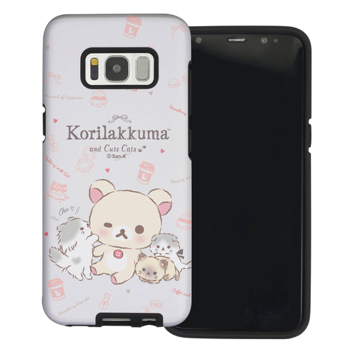 Galaxy Note4 Case Rilakkuma Layered Hybrid [TPU + PC] Bumper Cover - Korilakkuma Cat