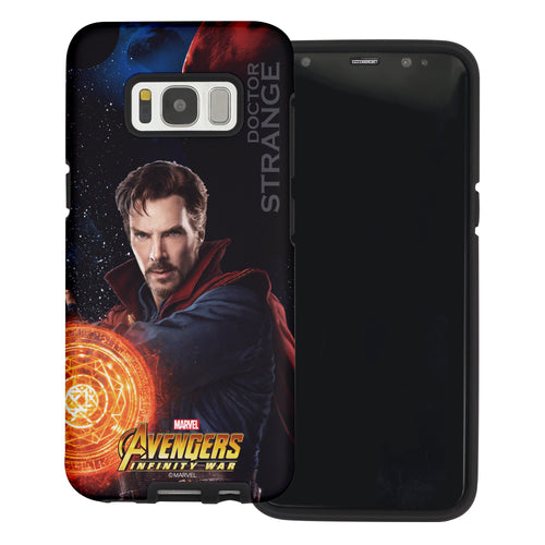 Galaxy S6 Case (5.1inch) Marvel Avengers Layered Hybrid [TPU + PC] Bumper Cover - War Strange