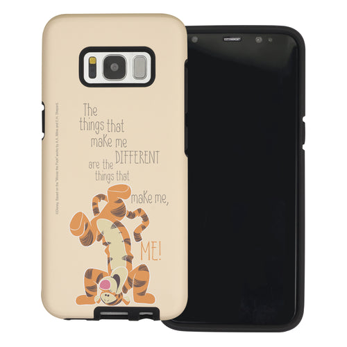 Galaxy S8 Case (5.8inch) Disney Pooh Layered Hybrid [TPU + PC] Bumper Cover - Words Tigger