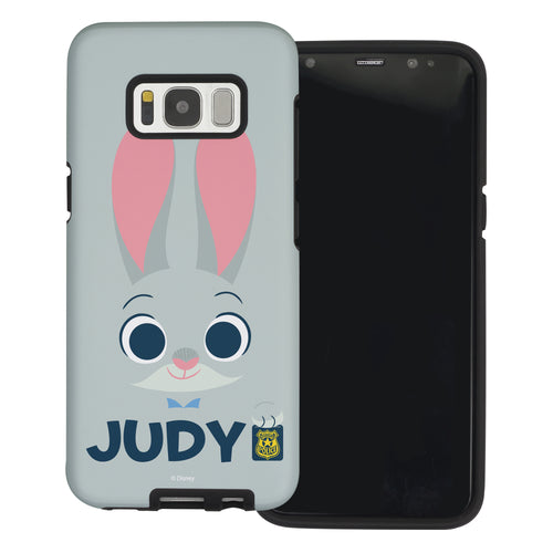 Galaxy S8 Case (5.8inch) Disney Zootopia Layered Hybrid [TPU + PC] Bumper Cover - Face Judy