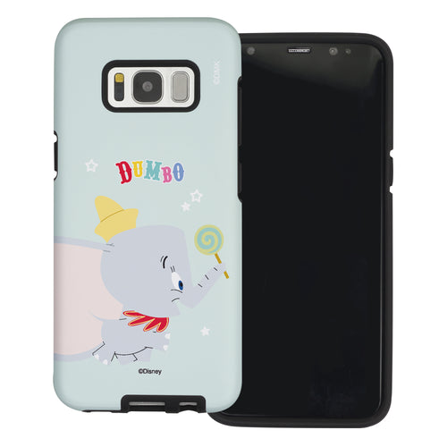 Galaxy S8 Case (5.8inch) Disney Dumbo Layered Hybrid [TPU + PC] Bumper Cover - Dumbo Candy