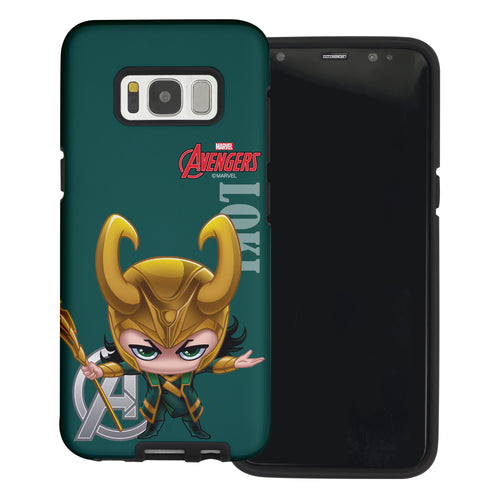 Galaxy S6 Case (5.1inch) Marvel Avengers Layered Hybrid [TPU + PC] Bumper Cover - Mini Lok