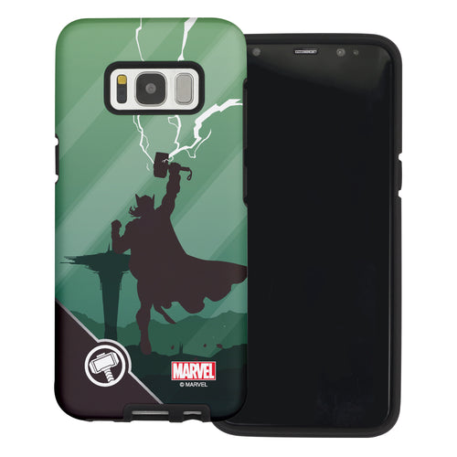 Galaxy S6 Case (5.1inch) Marvel Avengers Layered Hybrid [TPU + PC] Bumper Cover - Shadow Tho