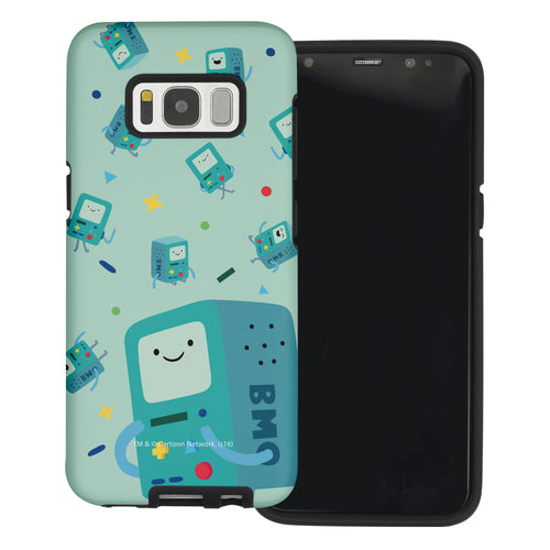 Galaxy Note4 Case Adventure Time Layered Hybrid [TPU + PC] Bumper Cover - Cuty Pattern BMO