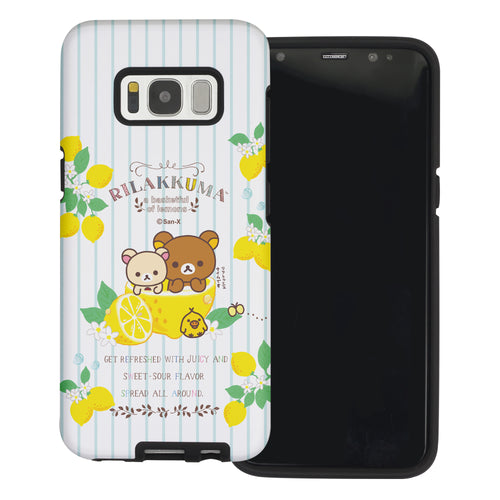 Galaxy S8 Plus Case Rilakkuma Layered Hybrid [TPU + PC] Bumper Cover - Rilakkuma Lemon