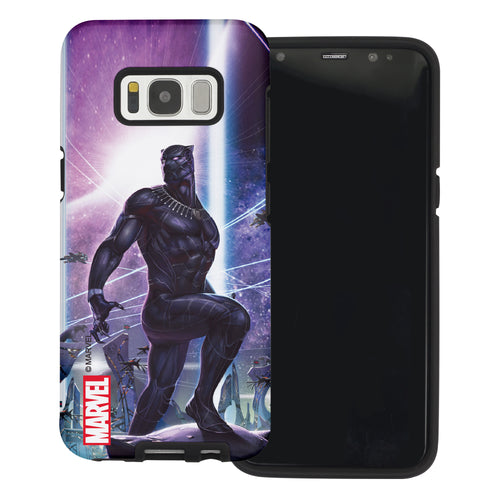 Galaxy S6 Edge Case Marvel Avengers Layered Hybrid [TPU + PC] Bumper Cover - Panther Stand