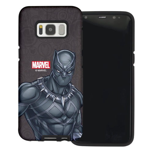 Galaxy S6 Case (5.1inch) Marvel Avengers Layered Hybrid [TPU + PC] Bumper Cover - Illustration Panther
