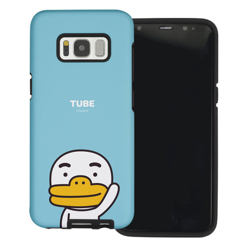 Galaxy S7 Edge Case Kakao Friends Layered Hybrid [TPU + PC] Bumper Cover - Greeting Tube