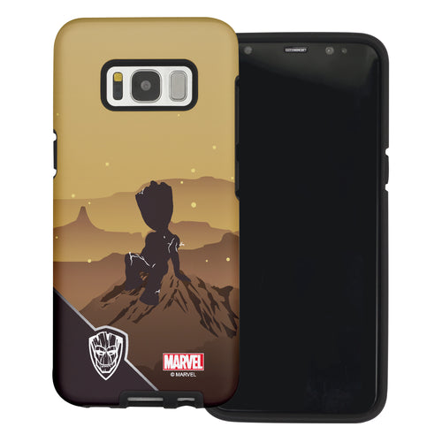 Galaxy S6 Edge Case Marvel Avengers Layered Hybrid [TPU + PC] Bumper Cover - Shadow Grot