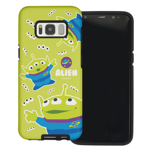 Galaxy S8 Plus Case Toy Story Layered Hybrid [TPU + PC] Bumper Cover - Pattern Alien Eyes
