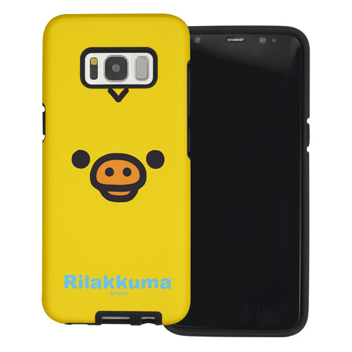 Galaxy S8 Plus Case Rilakkuma Layered Hybrid [TPU + PC] Bumper Cover - Face Kiiroitori