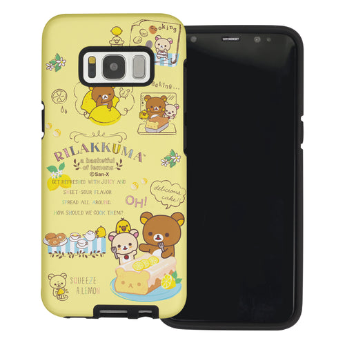 Galaxy S8 Plus Case Rilakkuma Layered Hybrid [TPU + PC] Bumper Cover - Rilakkuma Cooking