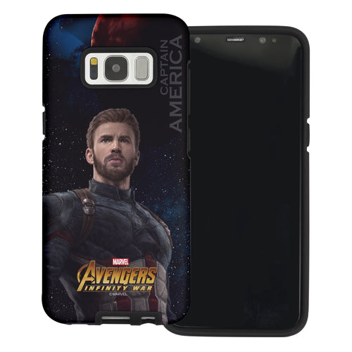 Galaxy S6 Case (5.1inch) Marvel Avengers Layered Hybrid [TPU + PC] Bumper Cover - War Captain