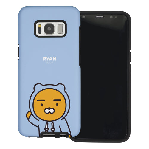 Galaxy S8 Case (5.8inch) Kakao Friends Layered Hybrid [TPU + PC] Bumper Cover - Greeting Ryan Hood