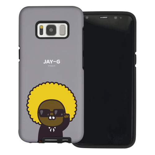 Galaxy S8 Case (5.8inch) Kakao Friends Layered Hybrid [TPU + PC] Bumper Cover - Greeting Jay-G