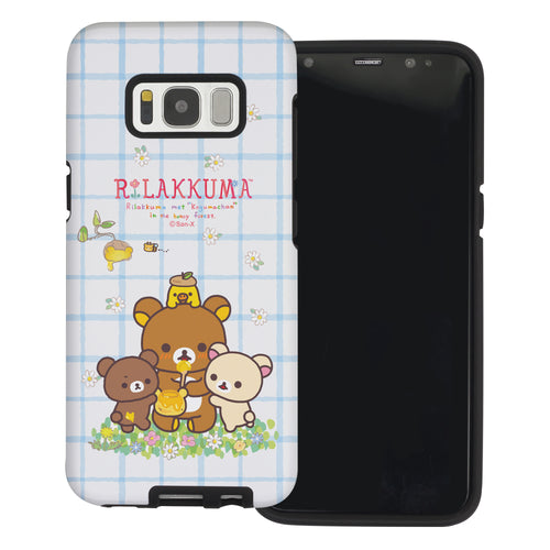 Galaxy S8 Plus Case Rilakkuma Layered Hybrid [TPU + PC] Bumper Cover - Rilakkuma Honey