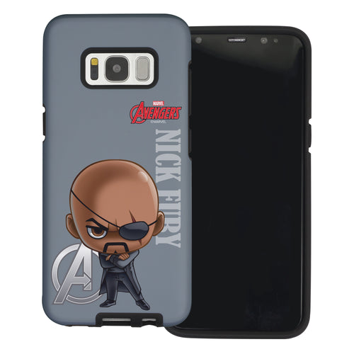 Galaxy S6 Case (5.1inch) Marvel Avengers Layered Hybrid [TPU + PC] Bumper Cover - Mini Nick