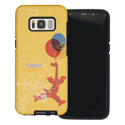 Galaxy S8 Case (5.8inch) Disney Pooh Layered Hybrid [TPU + PC] Bumper Cover - Balloon Tigger