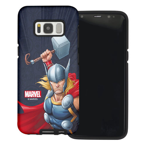 Galaxy S6 Case (5.1inch) Marvel Avengers Layered Hybrid [TPU + PC] Bumper Cover - Illustration Tho
