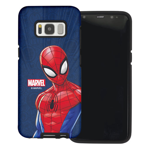 Galaxy S6 Case (5.1inch) Marvel Avengers Layered Hybrid [TPU + PC] Bumper Cover - Illustration Spider