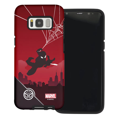 Galaxy S6 Edge Case Marvel Avengers Layered Hybrid [TPU + PC] Bumper Cover - Shadow Spider