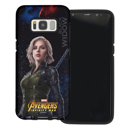 Galaxy S6 Case (5.1inch) Marvel Avengers Layered Hybrid [TPU + PC] Bumper Cover - War Widow